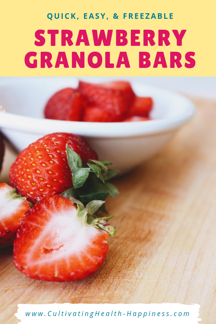 strawberry granola bars